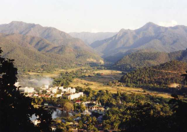 The mountains near Mae Hong Son
